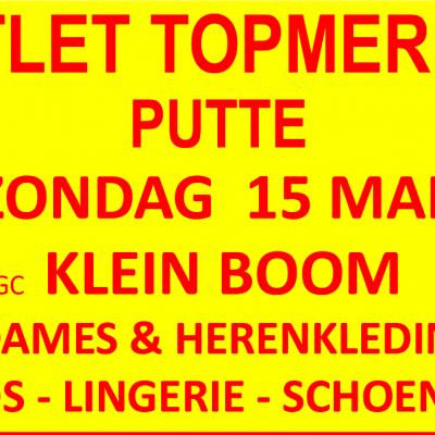 OUTLET TOPMERKEN - UITGESTELD